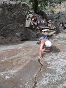 Rock Climbing Photo: Center crack runnin' it out. The route seems more ...