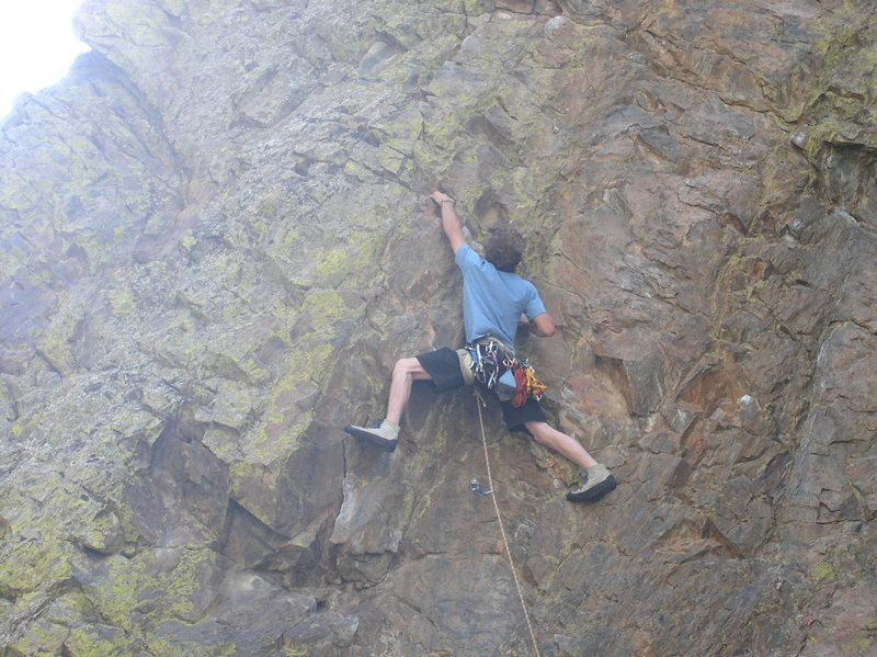 Ed's first lead ever! Left of Seven- A pumpy 5.9, not too bad if you're askin' me.