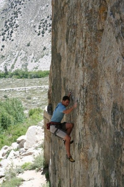 Rock Climbing Photo: Jess Downer crimping down on Burning Inside