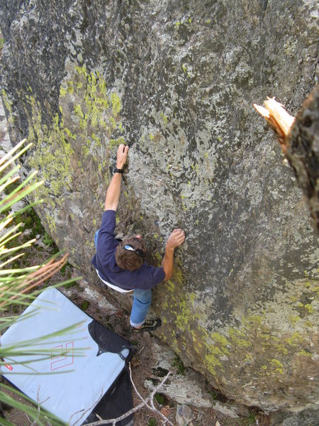 Rock Climbing Photo: Estes Creek boulder