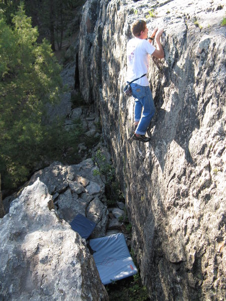 Rock Climbing Photo: Higher up n the nice black face