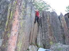 Rock Climbing Photo: Two nice cracks side by side.  They are a little s...