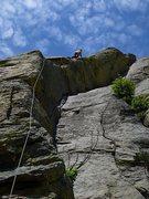Rock Climbing Photo: Leading Solar Eclipse, Devils Tower.