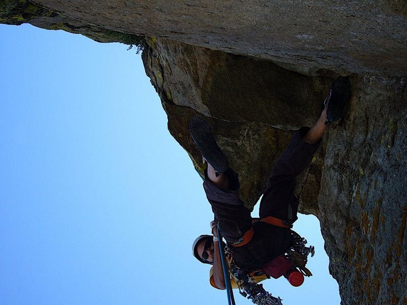 Rock Climbing Photo: North Face Rappels (airy!), Devils Tower.