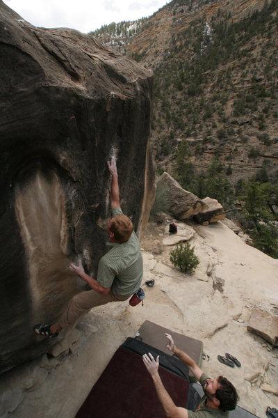 Rock Climbing Photo: going for the crimp