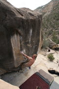 Rock Climbing Photo: in the opening moves of Scary Monsters