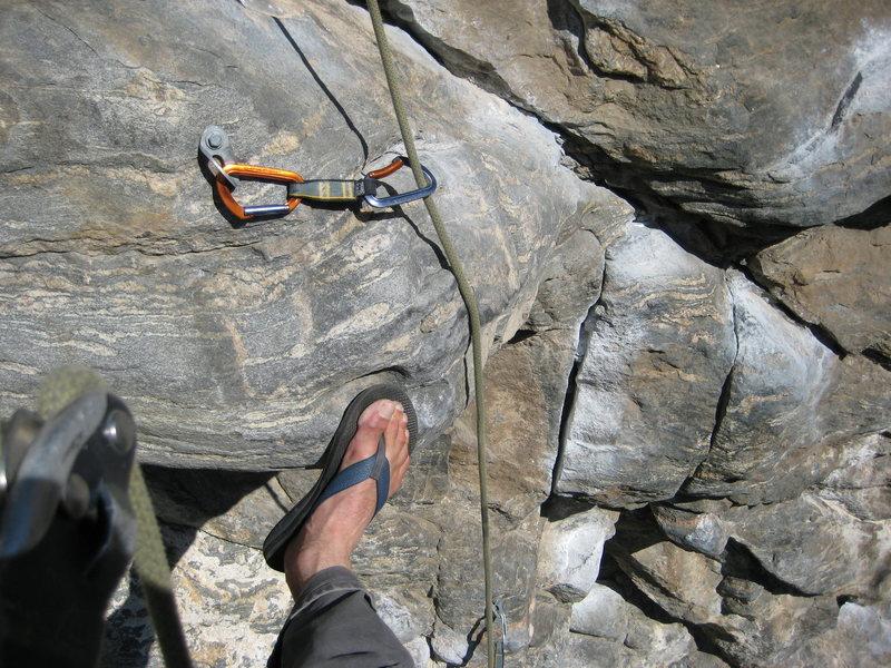 Rock Climbing Photo: Curvaceous original 5th bolt location...