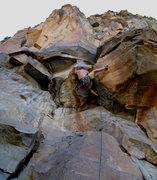 Rock Climbing Photo: Dr. David Daily having a good morning on his onsig...