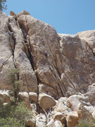 Rock Climbing Photo: The route, with two traverses.