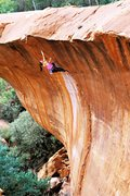 Rock Climbing Photo: Vanessa Peterson on the 2nd ascent of the wave (25...