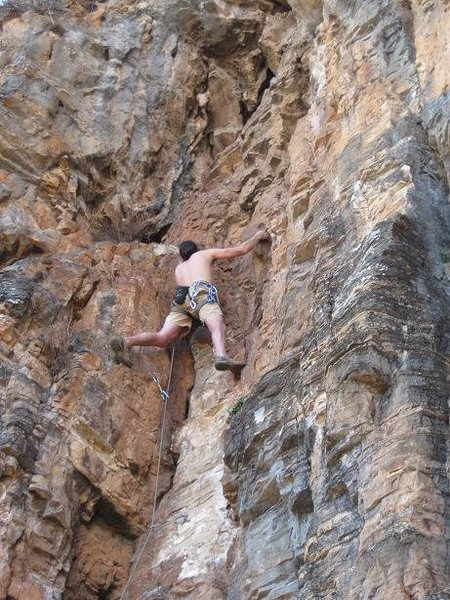 Adam climbing From Gansu with Love. (5.8)