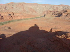 Rock Climbing Photo: Shadow of the Hat!