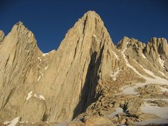 Rock Climbing Photo: East side of Mount Whitney, East Face, East Buttre...