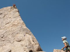 Rich enjoying a bit of Shark Fin Arete (.7) whilst Deanna belays <br /> <br />Photo courtesy: Ryan Matteson