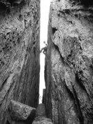 Rock Climbing Photo: Danger Johnson doing business.