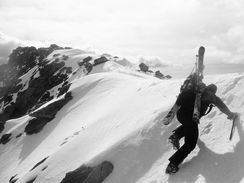 Rock Climbing Photo: Approaching the summit ridge.