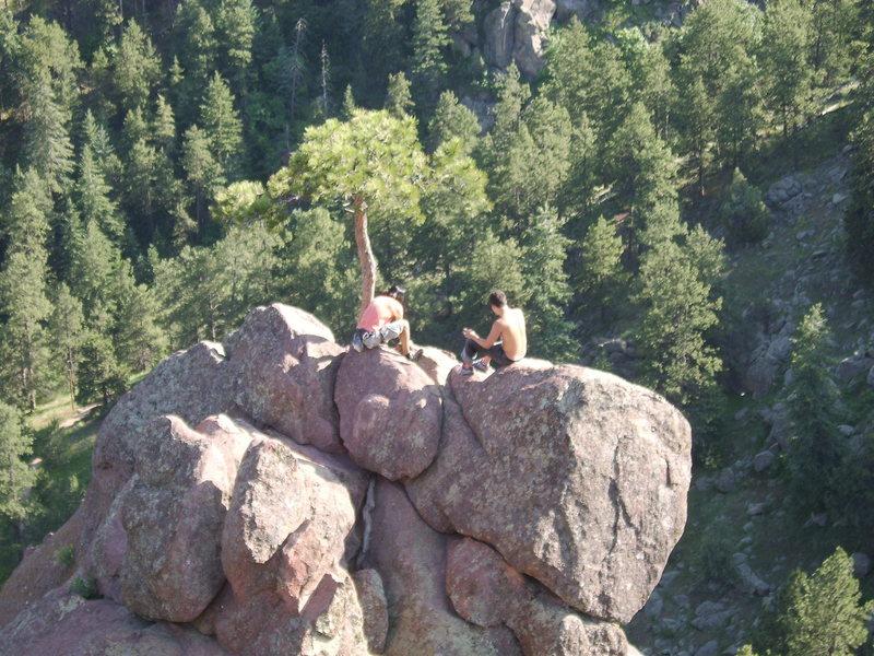 Rock Climbing Photo: Shot of the anchor you'll set up.