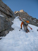 Rock Climbing Photo: Scottie B. ascending the Brute variation to the Sn...