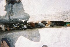 Rock Climbing Photo: Look closely in the middle of the crack and you wi...