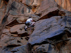 Rock Climbing Photo: Triple D moving through a world of Basalt on the s...
