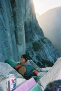 Rock Climbing Photo: Going to bed on Dolt Tower, as the sun rises