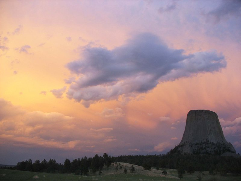 Rock Climbing Photo: Tower sunset after PM storm.