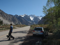 Rock Climbing Photo: Parking for one of the crags in beautiful Pine Cre...