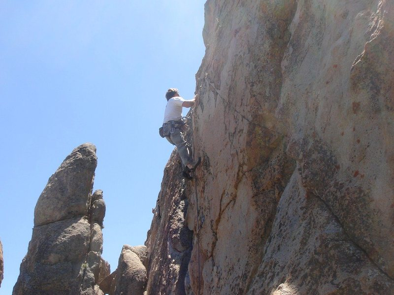 Rock Climbing Photo: Me leading the vertical midsection of Bourbon Stre...