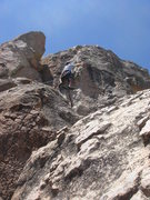 Rock Climbing Photo: The upper section of French Quartered.  Mike W on ...