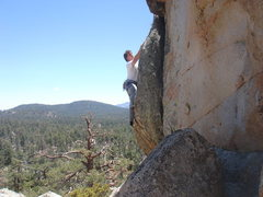 Rock Climbing Photo: Starting the crux of Blue Bayou.  Photo by Mike Wi...