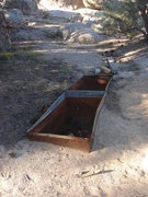 Rock Climbing Photo: Look for these troughs just off the 4WD road.  Hea...