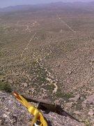 Rock Climbing Photo: Boulder Wash & Riparian Preserve from atop Gwall