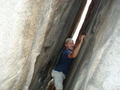 Rock Climbing Photo: tight squeeze