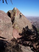 Rock Climbing Photo: Tim on the Right Amphitheatre slab.