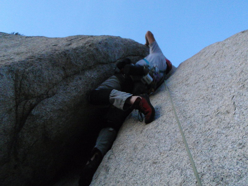 Rock Climbing Photo: Learning to Fly