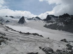 Rock Climbing Photo: Talkeetna Mountains  Taken from the Snowbird Hut. ...