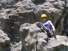 Rock Climbing Photo: Brooke atop the comical protrusion