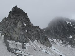 "Rock Climbing Photo: The nunatak. with the ""Because its there wall..."