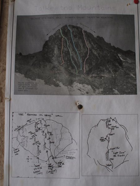 Rock Climbing Photo: route info. This paper is in the Snowbird Hut.