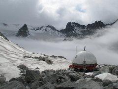 Rock Climbing Photo: Nunatak. Because it's there wall. Snowbird Hut. (l...