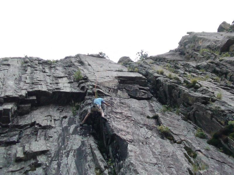 Rock Climbing Photo: Eric W. following my variation lead of Otherworld,...