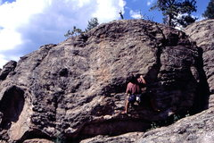Rock Climbing Photo: Bob Horan one one of his many Three Sisters Classi...