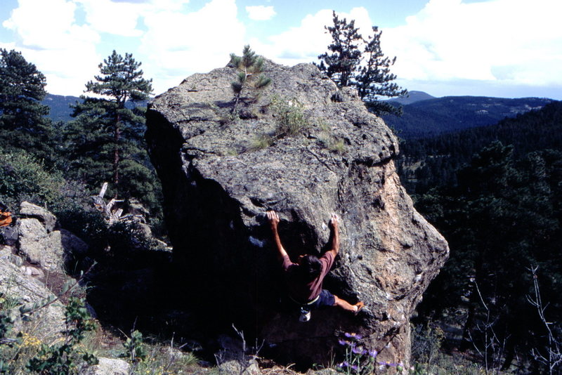 Rock Climbing Photo: Horan traverse training at Three Sisters.