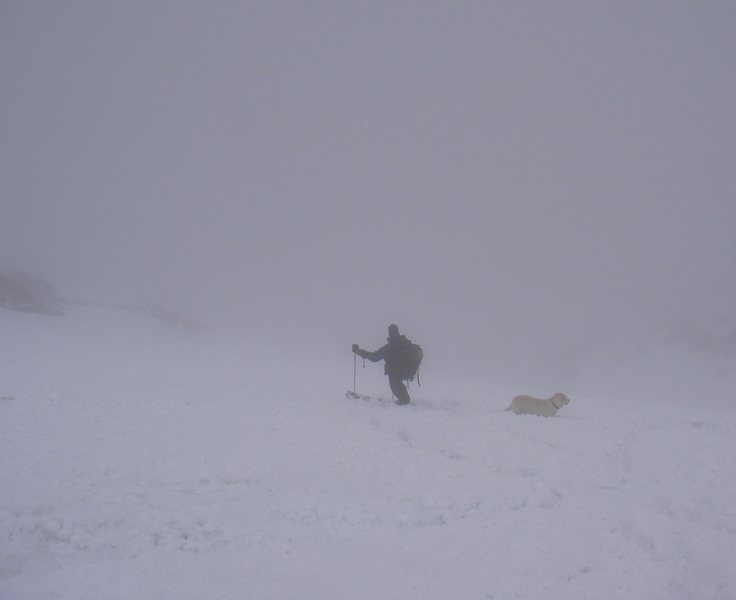 Rock Climbing Photo: Mt. Lindsey ski descent