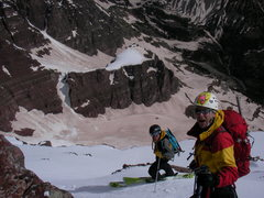 Rock Climbing Photo: Mike and Zack ready for the remainder of the desce...