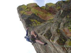 Rock Climbing Photo: Mike June 2009 False Summit of 1st Flatiron Direct...