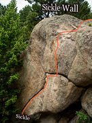 "Rock Climbing Photo: Photo beta for ""Sickle.""  The ""Elic..."