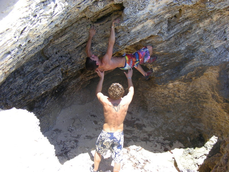 Rock Climbing Photo: Myself climbing, alex plotz spotting