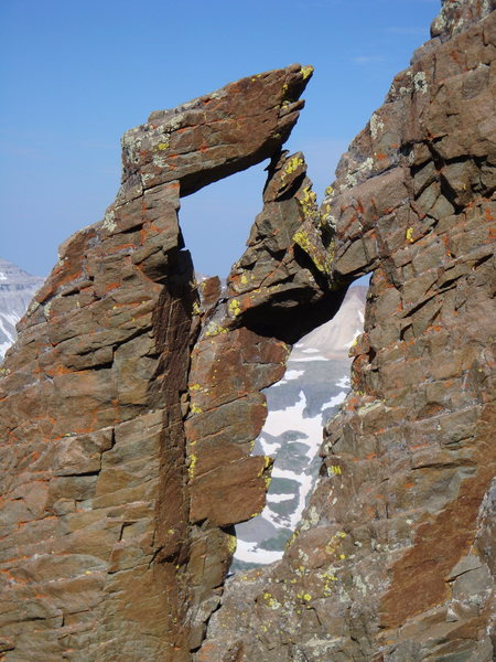 Rock Climbing Photo: Rock formation on the SW ridge of Sneffels.