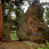 """Photo beta for """"Conspire A.K.A. Spire Arete.""""  Located on the """"Ponderosa Trail"""" SOUTH.  Three Sisters Park, Colorado."""
